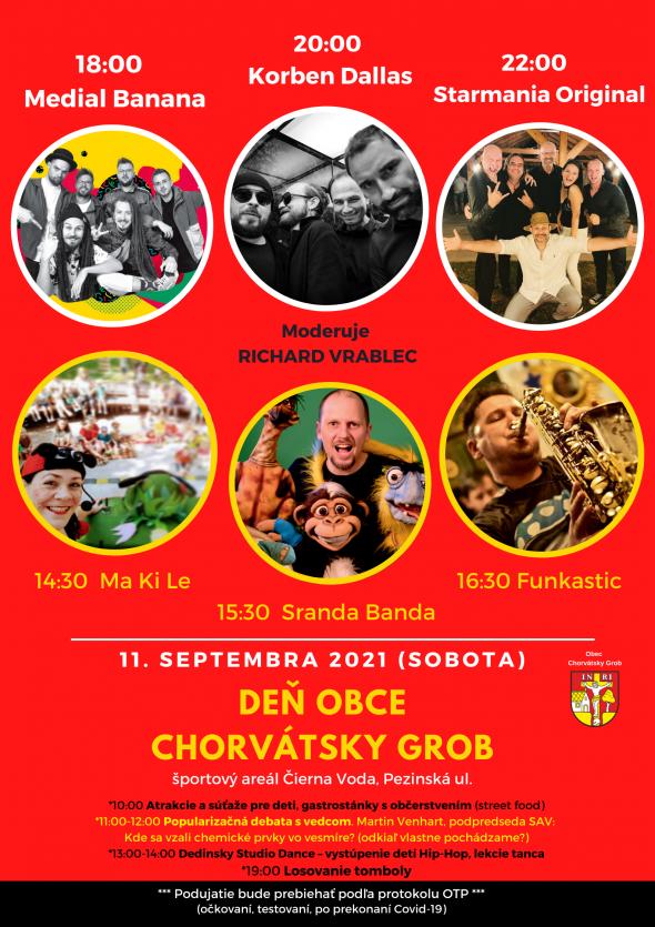 Deň obce Chorvátsky Grob - 11.9.2021,športový areál, 10:00 - 24:00