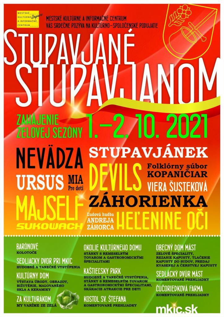 Stupavjané Stupavjanom - 1. - 2.10.2021, viacero zón