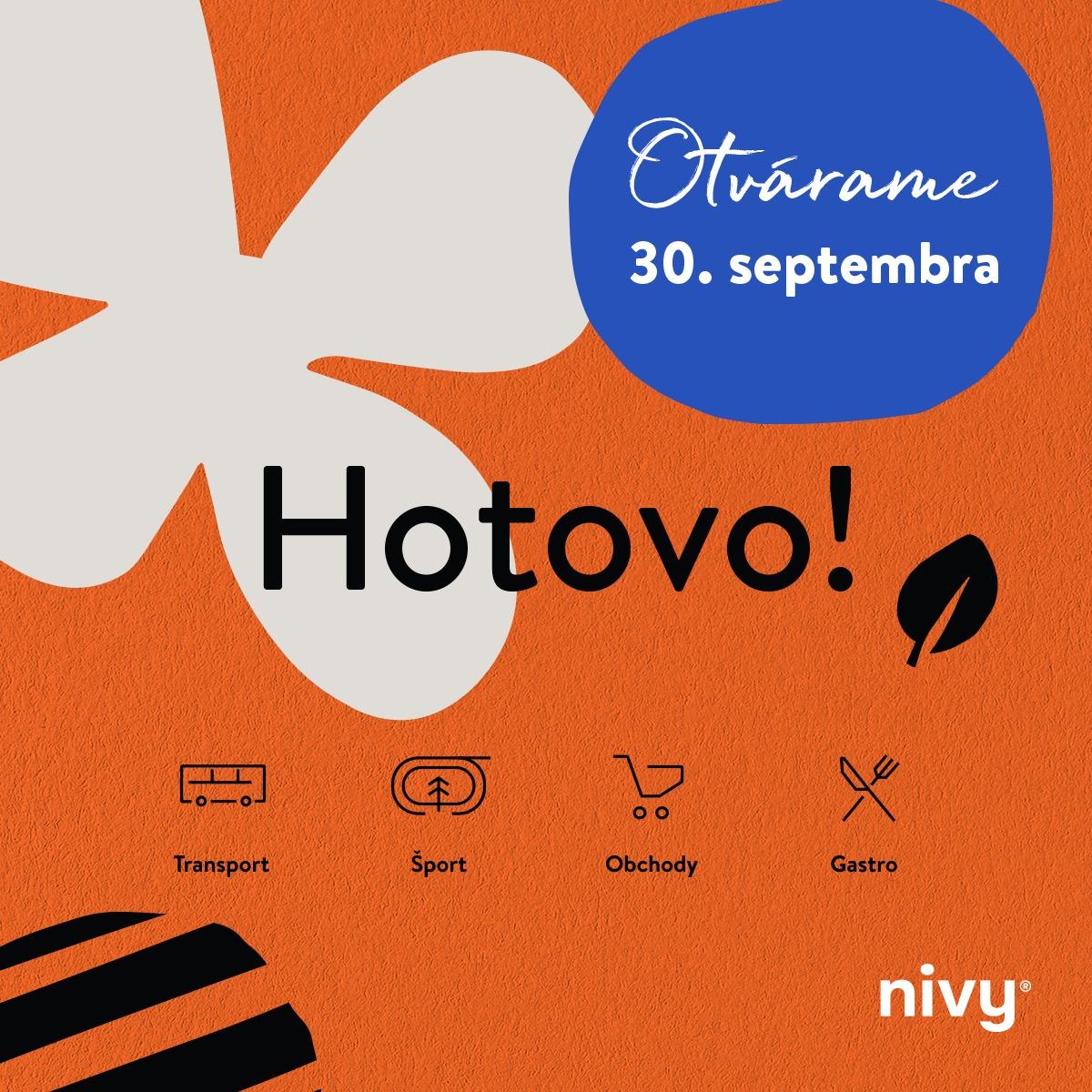 3x HURÁÁÁ - otvorenie novej autobusovej stanice Nivy! - od 30.9. do 3.10.2021