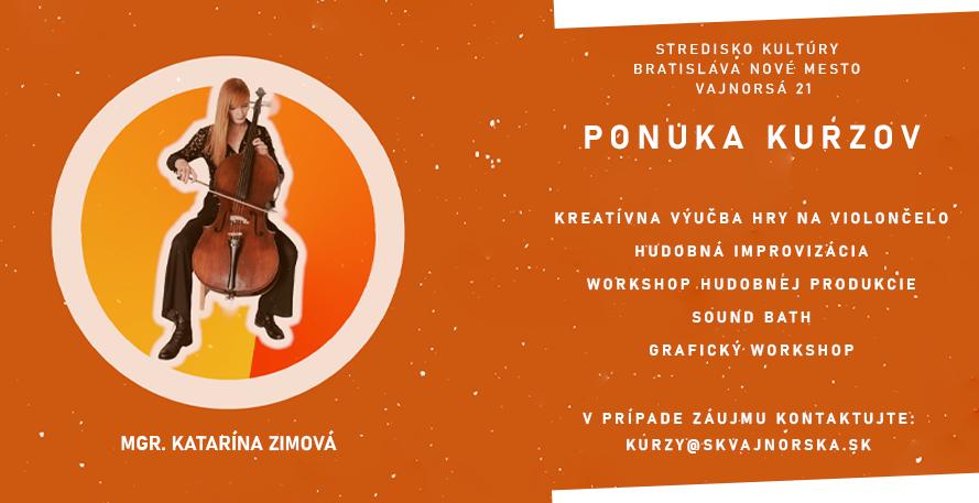 Stredisko kultúry na Vajnorskej 21 otvára kurzy
