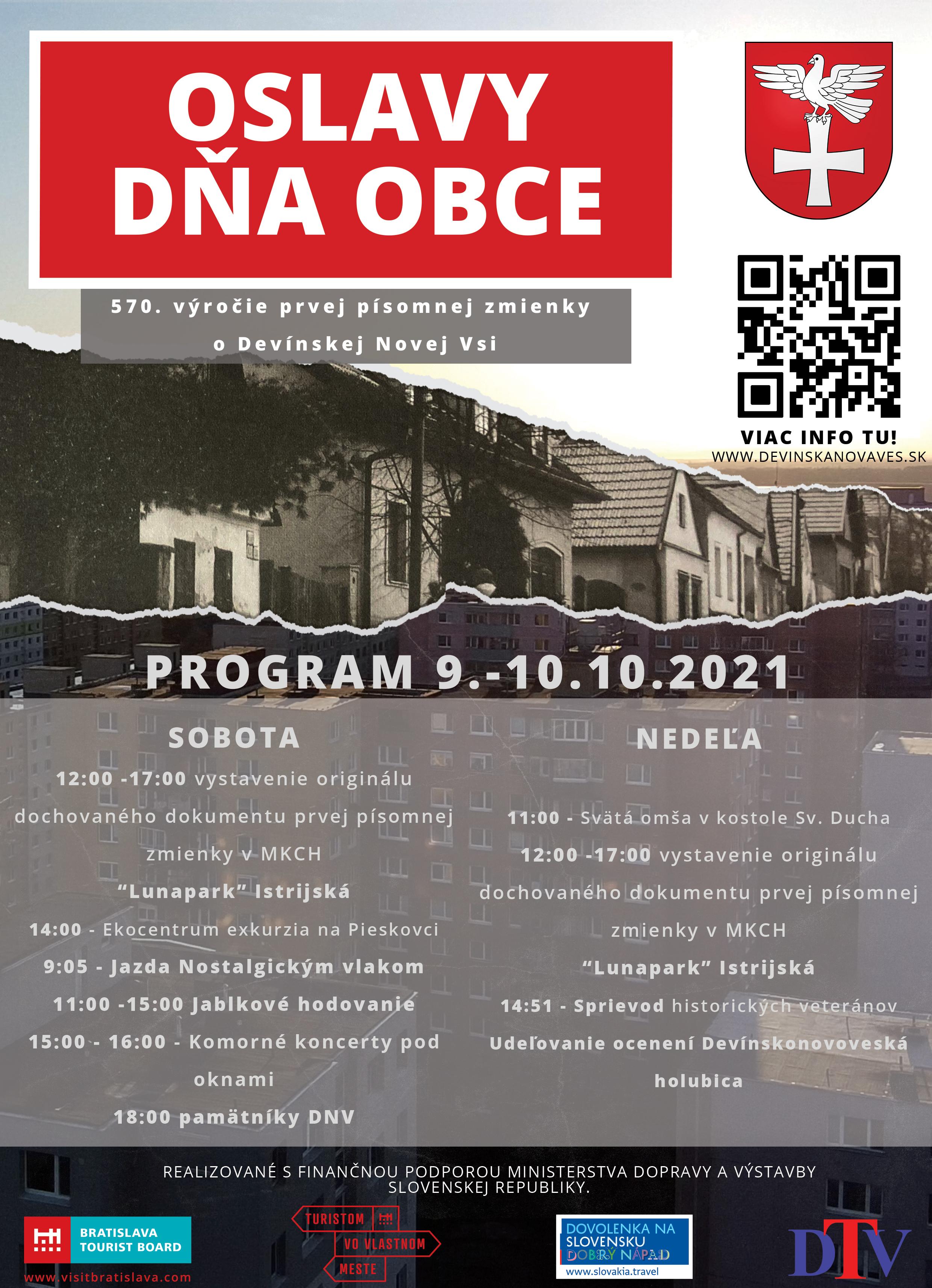 Oslavy Dňa obce Devínska Nová Ves - 9. - 10.10.2021
