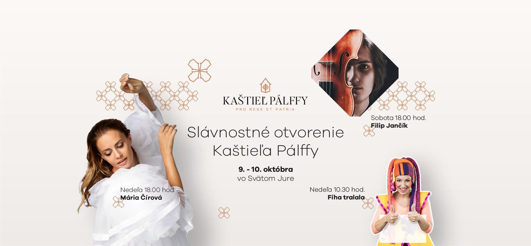 Slávnostné otvorenie Kaštieľa Pálffy - 9. a 10.10.2021, Svätý Jur
