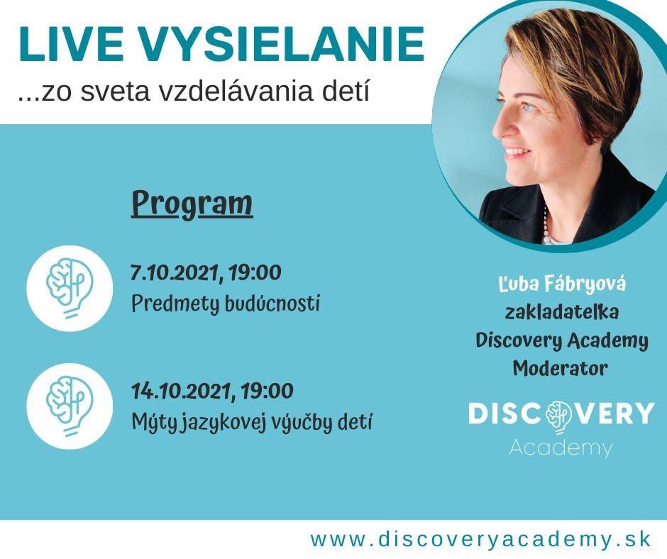 Mýty jazykovej výučby detí s Discovery Academy - 14.10.2021 o 19:00 ONLINE