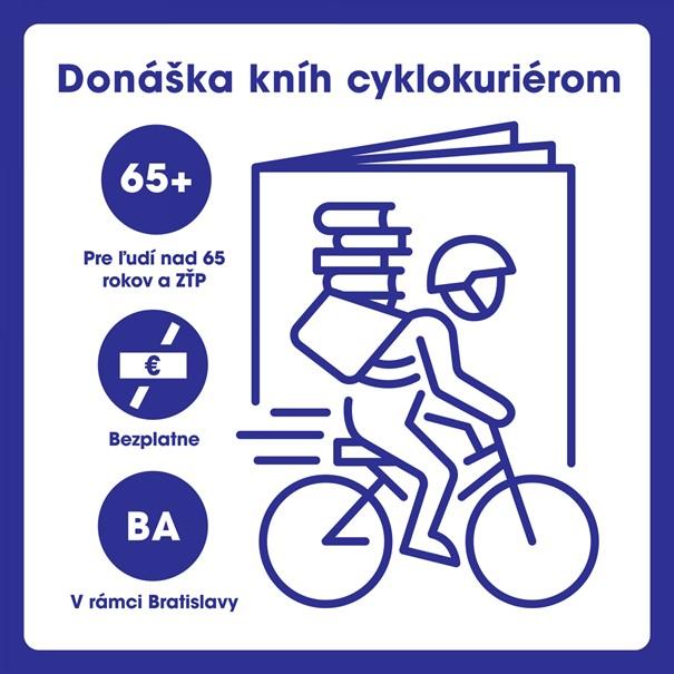 Mestská knižnica v Bratislave spustila donášku kníh cyklokuriérom