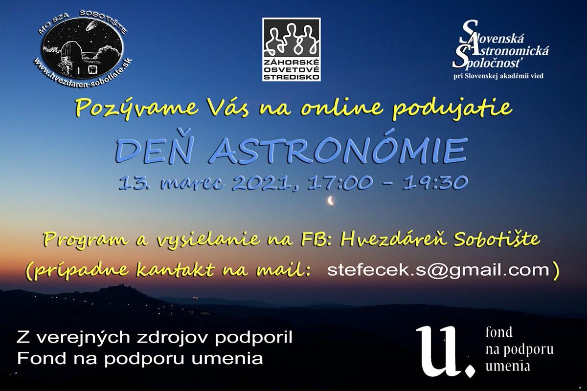 Deň astronómie online - 13.3.2021