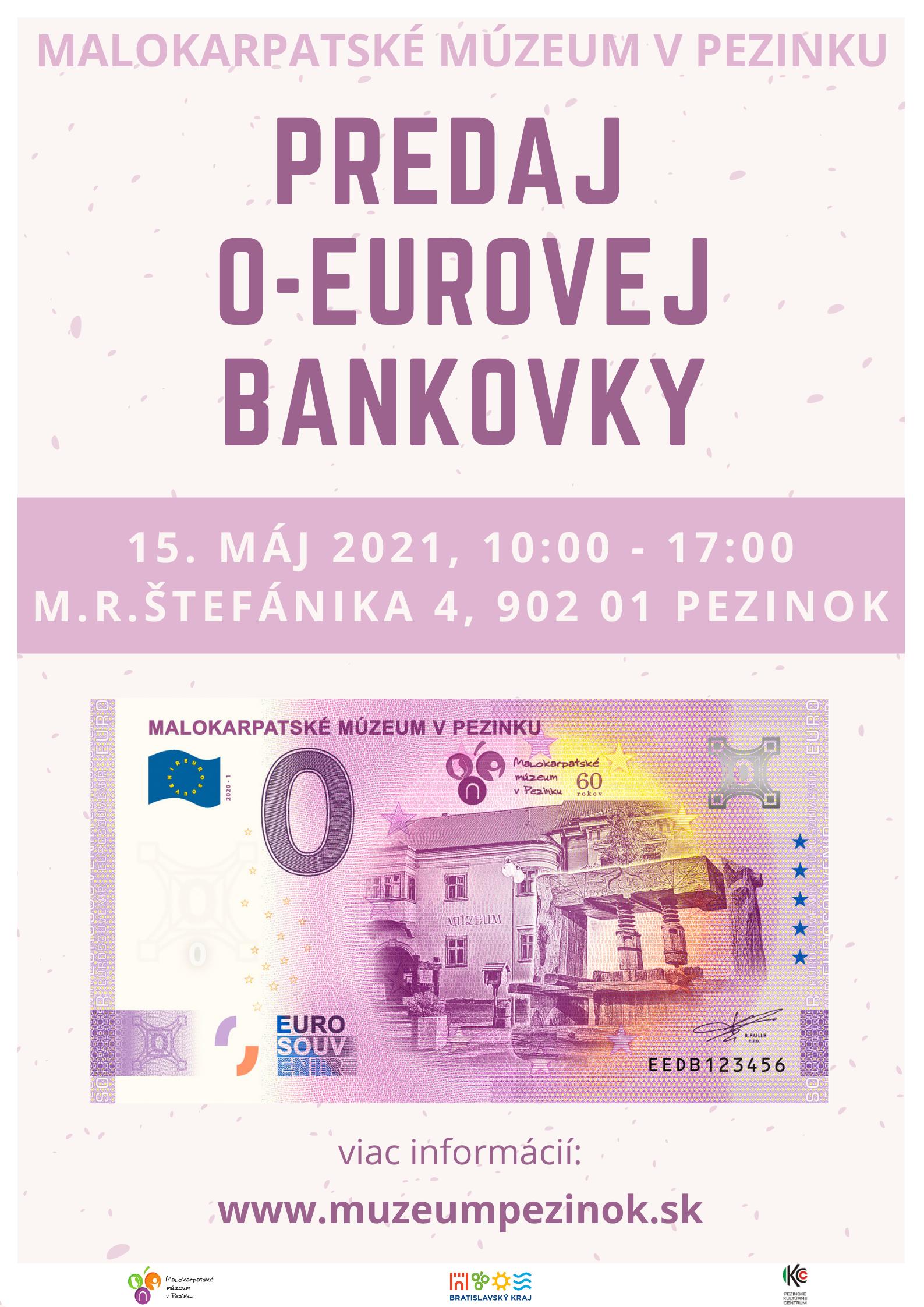 Malokarpatské múzeum v Pezinku má eurobankovku s vlastným motívom 💷