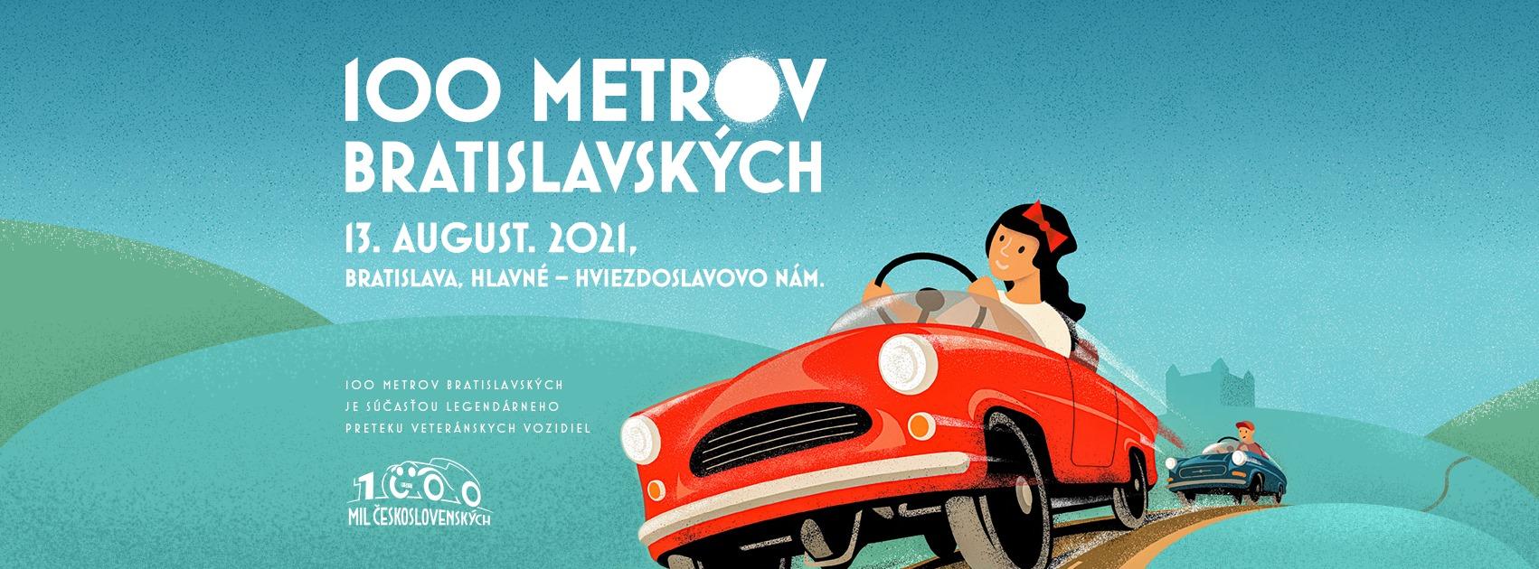 100 metrov Bratislavských - 13.8.2021 o 17:00