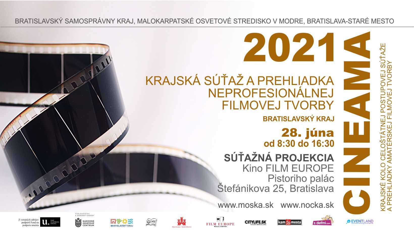 CINEAMA 2021 - 28.6.2021 od 8:30 do 16:30, kinosála Film Europe - Pistoriho palác, Bratislava