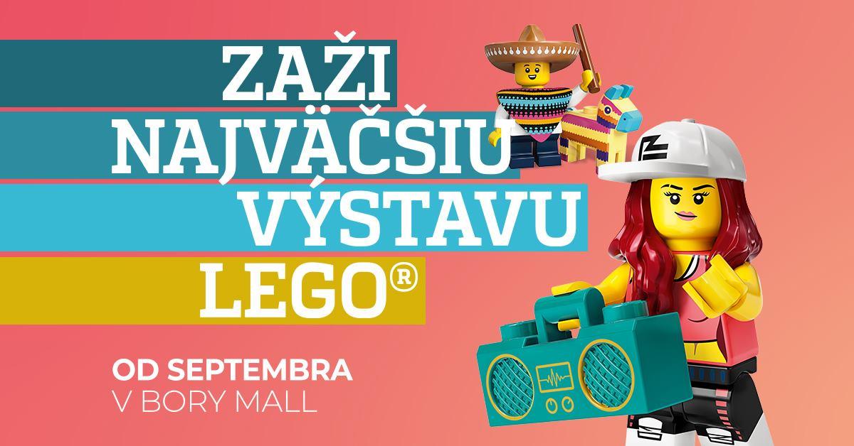 Najväčšia výstava LEGO® - od 2.9.2021 denne od 10:00 do 21:00, Bory Mall