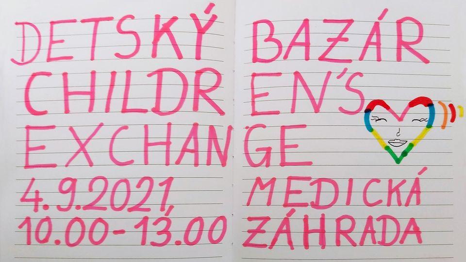 Detská burza - 4.9.2021 od 10:00 do 13:00, medická záhrada