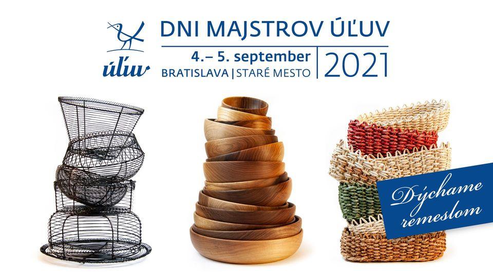 Dni majstrov ÚĽUV 2021 - 4. a 5.9.2021, Hviezdoslavovo námestie, Bratislava