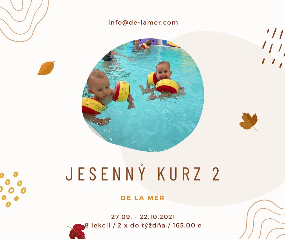 Baby plávanie jesenný kurz 2 v De La Mer